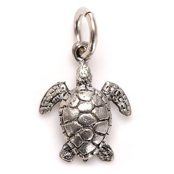 Turtle Charm Silver or Gold