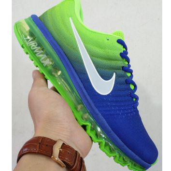 NIKE Women Men Running Sport Casual Shoes Sneakers Green Blue