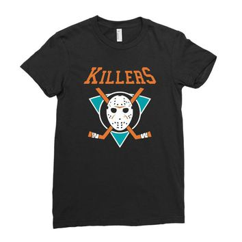 crystal lake killers Ladies Fitted T-Shirt
