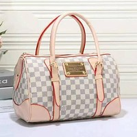 Perfect LV Women Leather Mini Luggage Travel Bags Tote Handbag
