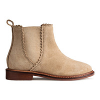 Suede Ankle Boots - from H&M