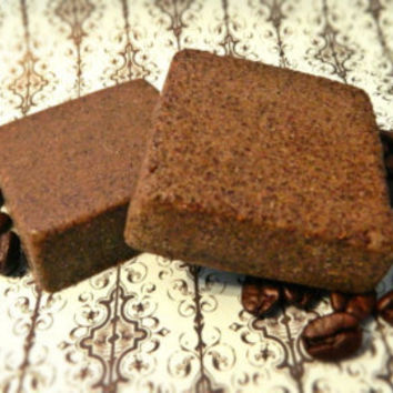 Java Bean, Turmeric Cellulite and Scar Reducer Body Scrub Soap BAR, Body Buff Bar