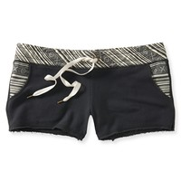 Aeropostale Womens Tonal Woven Knit Shorty Shorts - Blue,