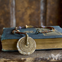 Bohemian Necklace w/Vintage Pendant from A Single Dream