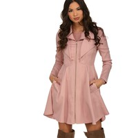 Pink Swirl Trench Coat