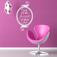 Fairest Of Them All Quote Wall Sticker from Mirrorin | Made By Mirrorin | £12.95 | BOUF