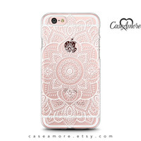 iPhone 6 case, iPhone 6s case, iPhone 7 case, iPhone 6 Plus case, Clear Rubber case, Galaxy S7 case, Samsung Galaxy cases, Henna Mandala Art