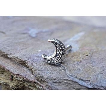 Moon Nose Ring Nose Stud