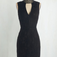 LBD Mid-length Sleeveless Sheath All About Drama Dress by ModCloth