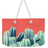 Cactus On Coral Weekender Tote Bag for Sale by Uma Gokhale