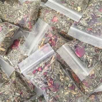 Sweet Scented Lavender and Rose Vaginal Herbal Blend --4 (2x3) Bags