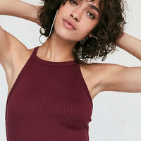 Silence + Noise Ribbed High-Neck Bodycon Mini Dress - Urban Outfitters