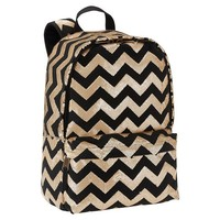 Sequin & Canvas Backpack, Gold Chevron