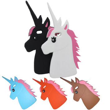 The Unicorn Littlt Horse Head Silicon Phone case cover for apple Iphone 6 6S Protective shell