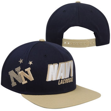 Nike Navy Midshipmen Lacrosse Score Adjustable Hat - Navy Blue