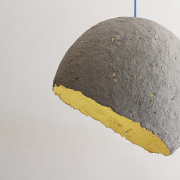 Globe-paper pulp pendant lamp, hanging lamp made with paper mache