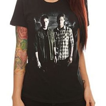 Supernatural Winchester Brothers Girls T-Shirt Plus Size - 145903