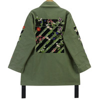 Floral Embroidery Coat