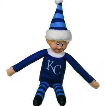 Kansas City Royals KC Holiday Christmas Team Elf with Santa Hat n Shirt MLB