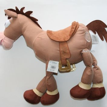 "Licensed cool 17"" Toy Story Bullseye Horse Plush Animal Doll Andy Name on Foot Disney Store"