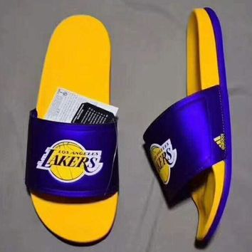 ONETOW ADIDAS LAKERS Casual Fashion Man Sandal Slipper Shoes H-PSXY