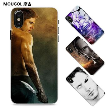 MOUGOL dean winchester supernatural Style Thin clear phone shell case for Apple iPhone X 8 8Plus SE 5 5s 7 7Plus 6 6sPlus