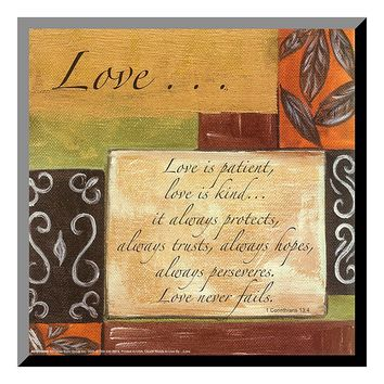 Art.com ''Words to Live By Love'' Wood Wall Art (Brown)