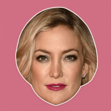 Neutral Kate Hudson Mask - Perfect for Halloween, Costume Party Mask, Masquerades, Parties, Festivals, Concerts - Jumbo Size Waterproof Laminated Mask