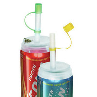 REUSABLE SODA CAN LIDS & STRAWS