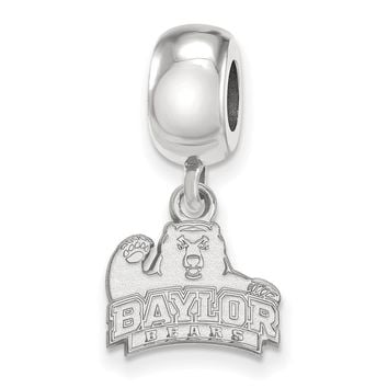 NCAA Sterling Silver Baylor University XS Bear Dangle Bead Charm