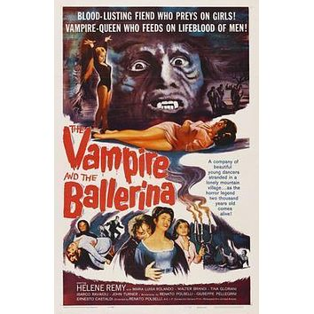 Vampire And The Ballerina The Movie poster Metal Sign Wall Art 8in x 12in