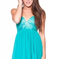 Silhouette dress in turquoise  | Show Pony Fashion online shopping