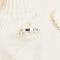 Sterling Silver Band Toe Ring, Silver Adjustable Toe Ring, Silver Toe Ring, Band Toe Ring, Sterling Toe Ring, Silver Pinkie Ring, Midi Ring