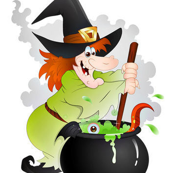 Witch Image, Cauldron Witch Image, Scary Witch Image,Large Witch Cauldron, Transparent Cutout, Wall Décor, Teen Room,Teen Décor, Home Décor
