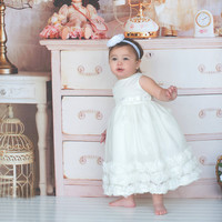 Flower baby girl dress-Baptism-Christening-Brandy