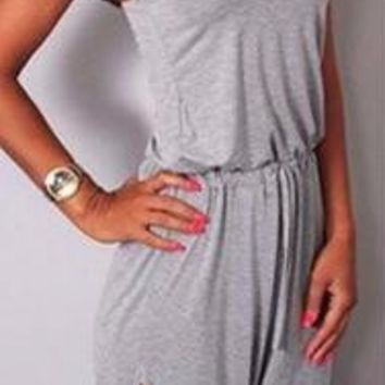 Knitted Slit Jumpsuit