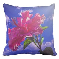 Beautiful sun drenched flower, pillow