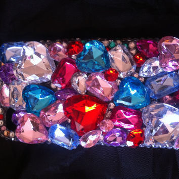 3D Colorful Gem iPhone 4/4s phone case by AprilsKawaiiShop on Etsy