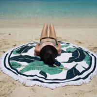 Palm Tree Beach Towel Printed Bohemian Cover Ups Scarves Wrap Pareo