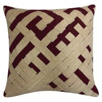 "Nate Berkus™ Woven Pillow - Ox Blood (18x18"")"