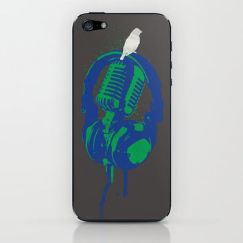 Earth Song iPhone & iPod Skin by Erik Sandi Satresa