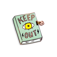 Keep Out Lapel Pin