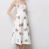 Floristitched Midi Dress