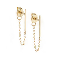 Ballerina Earring, yellow gold (single) - Catbird