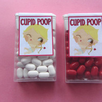 VALENTINE CUPID POOP,candy,tic tacs,labels,stickers,kids,favors,
