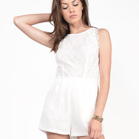 Lacey Floral Chiffon Romper