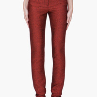 Hussein Chalayan Red Shiny Trousers