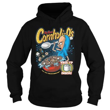 The Great Cornholio are you threatening me Beavis and Butthead  Hoodie