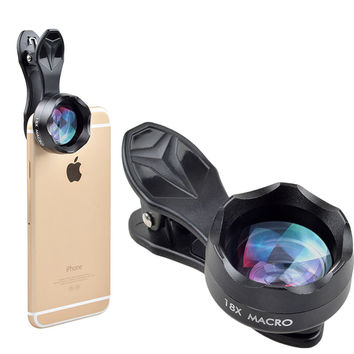 New Phone Lens 18x super macro Lens professional HD super macro mobile phone camera lenses for iPhone 6 7 Xiaomi Samsung HTC