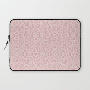 Pastel Floral Pattern in Pink Laptop Sleeve by Lena Photo Art